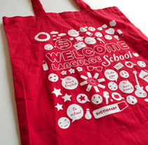 Welcome LS / Bolsa reutilizable. A Design&Illustration project by Serena Vacas - 13-11-2012