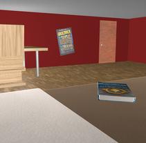Bedroom 3D. A Illustration, and 3D project by Andrea Esteban Martín         - 01.12.2012