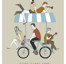 Giant Giant Sand tour poster. Un proyecto de Ilustración de Estibaliz Hernández de Miguel         - 02.12.2012