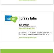 Business Card - Nurun and Crazy Labs. Um projeto de Design de Domnina VS         - 14.12.2012