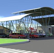 Estación de Servicio. Un proyecto de Diseño y 3D de Paola Salazar Rosales         - 08.01.2013