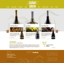 Boceto Web Cuñas Davia V1. A Design, Advertising, UI / UX&IT project by Aldara Iglesias Iglesias         - 06.02.2013