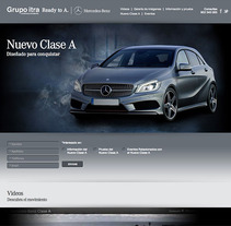 Landing Page - Nuevo Clase A - Mercedes Benz. A Design, Advertising, Software Development, Photograph, Film, Video, TV, and UI / UX project by Jonathan Rikles         - 04.03.2013