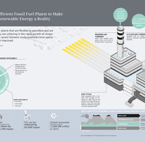 """Flexible and efficient fossil fuel plants to make the vision of renewable energy a reality"". Un proyecto de Diseño e Ilustración de Mariela Bontempi de Miguel - 11-03-2013"