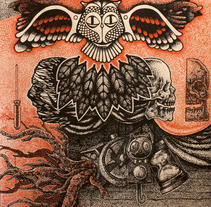 El buho. A Illustration project by Fernando López Tarodo - 04-04-2013