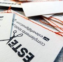 Esteve Ferrer // Complements tèxtils per escenografies. Um projeto de Design e Ilustração de lluís bertrans bufí         - 26.04.2013