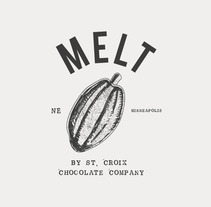 Propuesta de logo // MELT By St. Croix Chocolate Factory. A Design project by María Caballer          - 26.04.2013