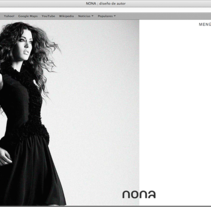Nona. Fashion designer (website).. A Design, and Software Development project by Víctor Arráez Abad - 11-05-2013
