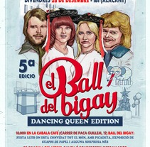 """Cartel Publicitario """"Ball del Bigay"""". Un proyecto de Diseño, Ilustración y Publicidad de Fernando Fernández Torres - 21-06-2013"""