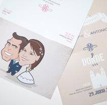 Invitaciones de Boda. A Design&Illustration project by María Garrido         - 27.06.2013