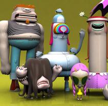 3D Characters . Vol I. Um projeto de Design, Ilustração, Publicidade, Cinema, Vídeo e TV e 3D de Raul Real         - 09.09.2013