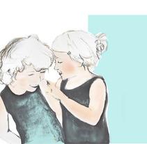 abrazos, risas, juegos y un beso. A Illustration project by Elisa Bernat         - 29.07.2013