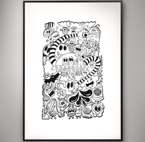 Doodle Poster. A Illustration project by Isaac González         - 26.11.2013