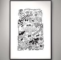 Doodle Poster. Un proyecto de Ilustración de Isaac González         - 26.11.2013