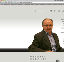 Web Luis Mesa. A Design, and Software Development project by Jessica Peña Moro         - 27.04.2013