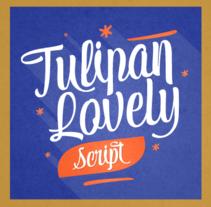 Tulipán Script Typography - New Release! Available on Myfonts. Un proyecto de Ilustración de Felipe Calderón Arteaga  - 02-12-2013