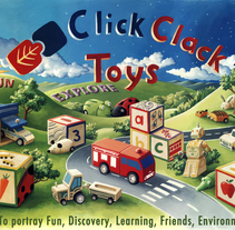 Pótser para Click Clack Toys.. A Illustration, and Advertising project by Cinta Vidal Agulló         - 08.12.2013