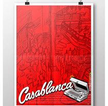 Póster Cafe-Tertulia Casablanca. Um projeto de Design e Ilustração de Juanjo-se Peñalver         - 26.12.2013