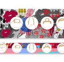 banners web para la marca de bolsas Irema.. Un proyecto de Diseño de Lola Lecoutour         - 19.11.2013