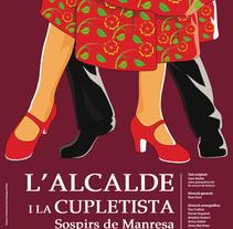 Cartel obra de teatro inocentada de Manresa. Un proyecto de Diseño, Ilustración y Publicidad de David Rodríguez - 11.01.2014