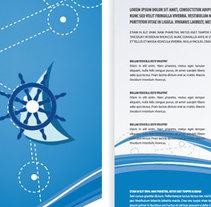 """Diseño de logotipo, folletos y flyers para """"MERCANAUTA"""". A Design project by Esther Martínez Recuero - Jan 25 2014 12:00 AM"""