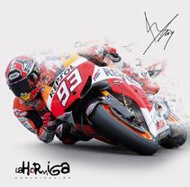 Cartel Repsol Moto GP. A Photograph project by La Hormiga Comunicación         - 06.02.2014