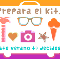 Micro Summertime para Universia(Banco Santander): http://xurl.es/s36to. Um projeto de Ilustração e Web design de Marta Páramo Vicente         - 31.05.2013