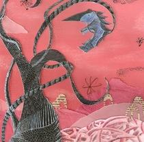 Collage- (Tinta china - esgrafiado-papeles). A Illustration project by María Inés Arizaga         - 30.09.2013