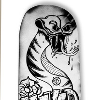 Skateboard • Never Give Up #SkateArt. A Design, Illustration, Art Direction, and Fine Art project by Matdisseny (marc argelich trigo) - 07-03-2014