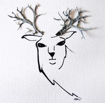 Cuernos de ciervo. Um projeto de Ilustração de Elvira Rojas         - 12.03.2014