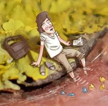 Lectura en el estanque. A Illustration, and Photograph project by Pablo Cappa - 28-04-2016