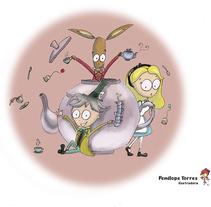 Alice in Wonderland. Um projeto de Ilustração e Design gráfico de penelope torres ilustradora         - 27.03.2014