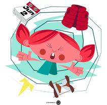 KATTY (proyecto leptógrafo). Un proyecto de Diseño de personajes, Diseño gráfico e Ilustración de Jhonny  Núñez - Sábado, 29 de marzo de 2014 00:00:00 +0100