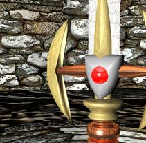 Ambientación de un Castillo y Espada Mediebal en 3d. A 3D project by Andres Torres A.         - 30.03.2014