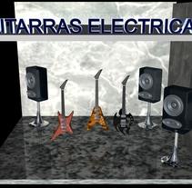 Guitarras Eléctricas en 3d. Un proyecto de 3D de Andres Torres A.         - 31.03.2014