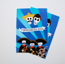 Díptico Carnestoltes Pallejà. A Illustration project by Zahira Rodríguez Mediavilla - Apr 02 2014 12:00 AM