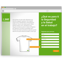 Microsite BASF Día de la Seguridad . A Web Design project by Zahira Rodríguez Mediavilla - Apr 13 2013 12:00 AM
