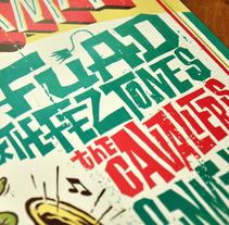 Surforama Madrid 2010. Cartel para un festival de música surf. En colaboración con Mik Baro.. A Graphic Design, Illustration, T, and pograph project by Ivan Castro - 04.07.2014