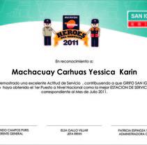 Diseño de diplomas del Grifo San Ignacio. Um projeto de Gestão de design de Martha Midori nicolas huaman         - 02.07.2011