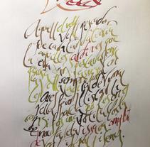 Caligrafías... Un proyecto de Bellas Artes de oskar          - 15.04.2014