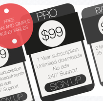 Free Clean and Simple Pricing Tables (PSD). A Web Design project by Jaume Estruch Navas - 29-04-2014