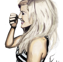 Ellie Goulding. A Illustration project by Erick Miguel  Martínez Ortega       - 04-05-2014