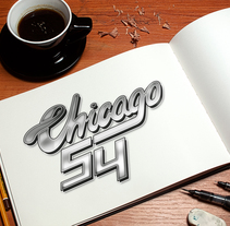 Lettering Chicago 54. A T, and pograph project by Iban  - 04-05-2014