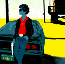 Knight Rider. Alternative versions. Un proyecto de Ilustración de Oriol Vidal - 05-05-2014