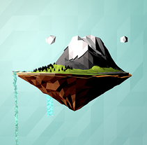 MicroMundo - Low Poly. A Illustration, 3D, L, and scape Architecture project by Alejandro Bernatzky         - 05.05.2014