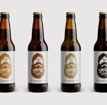 Barbiére Beer. A Br, ing, Identit, Creative Consulting, Art Direction, Product Design, Graphic Design, Illustration, Packaging, and Design project by The Woork Co  - May 13 2014 12:00 AM