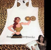 Camiseta todomenosleopardo. Um projeto de Ilustração e Design de personagens de todomenosleopardo®         - 26.05.2014