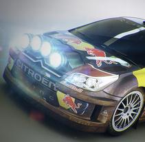 "Citroen C4 WRC. A 3D, Art Direction, Automotive Design, and Post-Production project by Alfredo Gutierrez Moreno ""Fredo"" - 02-06-2014"