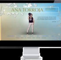 Ana torroja. A Web Development, and Design project by Jaime Sanchez - Jun 06 2014 12:00 AM