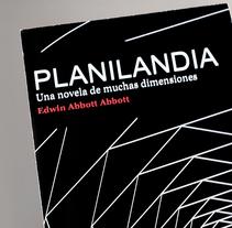 """Display y tarjetón para la novela """"Planilandia"""". Un proyecto de Diseño, Publicidad y Diseño gráfico de Antía Méndez Conde-Pumpido         - 09.06.2014"""